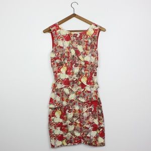 Esley Floral Cut out Back Dress Sz S